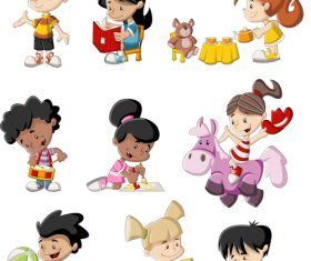 Kids cartoon vector