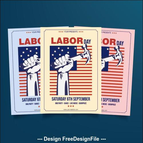 Labor day flyer vector