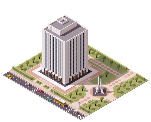 Landmark building vector