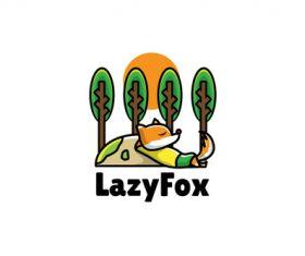 Lazyfox mascot logo vector