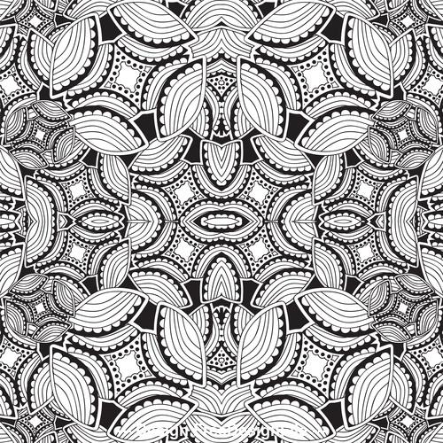 Leaf geometric pattern vector