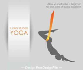 Learn aerial yoga logo vector