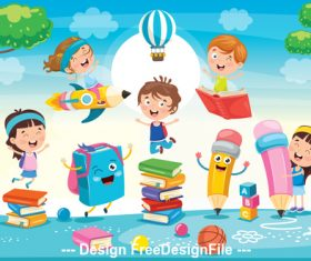 Learning cartoon vector