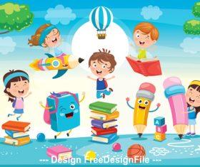 Learning cartoon vector