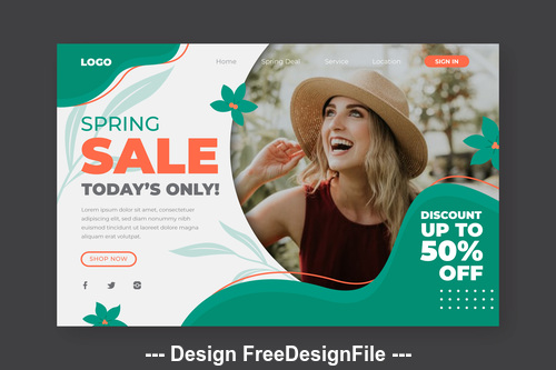 Limited time special sale page template vector
