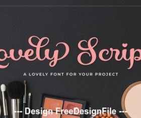 Lovely script fonts