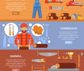 Lumberjack banner vector