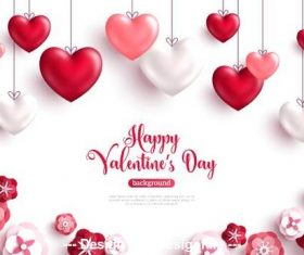 Luxurious Valentines day template vector