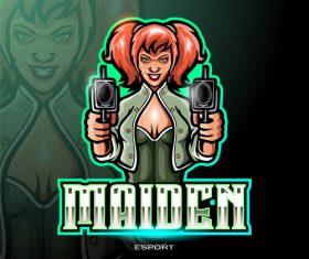 Maiden shooter logo vector