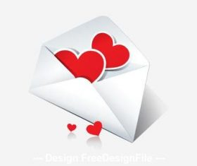 Mail to my heart valentine greeting card vector