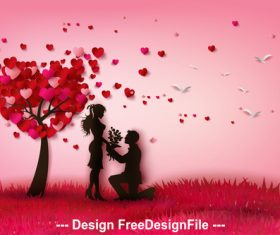 Make an offer of marriage vector