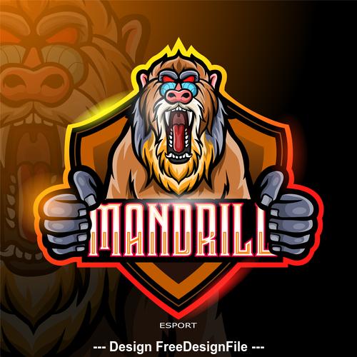 Mandrill logo vector