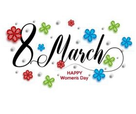 March 8 international womens day greeting card vector
