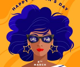 March 8 womens day card vector