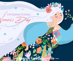 March 8 womens day illustration vector