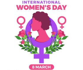 March 8 world womens day logo vector