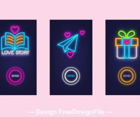 Mobile App Illustrations vector