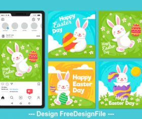 Mobile easter cover vector