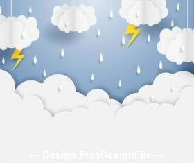 Monsoon rainy season vector