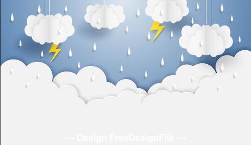 Monsoon rainy season vector