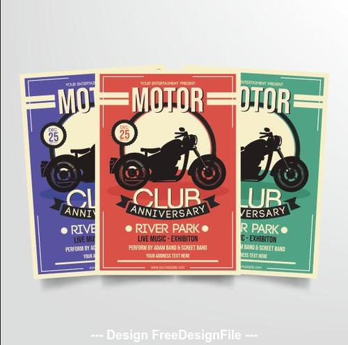 Motorcycle club poster vector