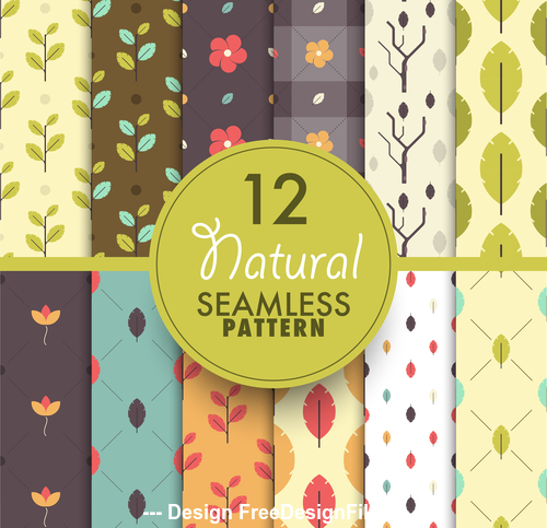 Natural seamless pattern background vector