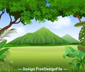 Nature illustration vector
