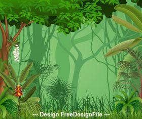 Nature jungle illustration vector