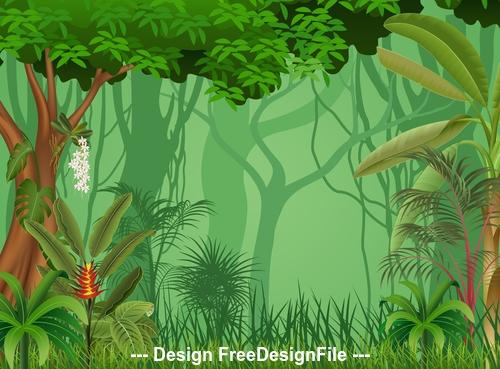 Nature jungle illustration vector