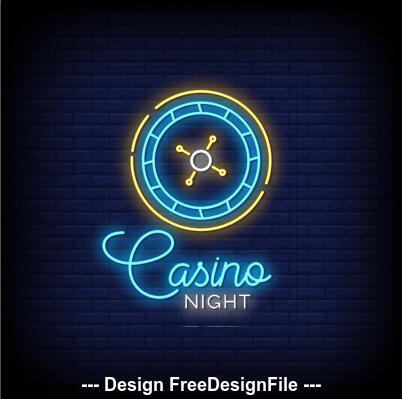 Neon signs style text vector