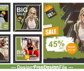Network social media sales banner vector