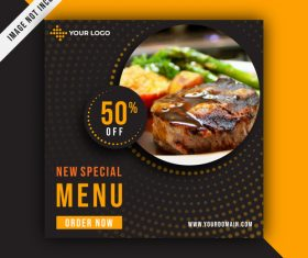 New special menu vector design template