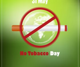 No tobacco day poster vector