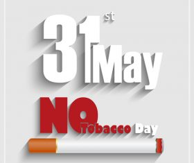 No tobacco poster on white background vector