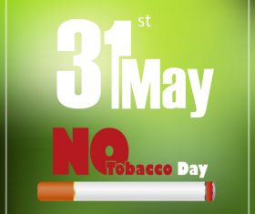 No tobacco poster vector