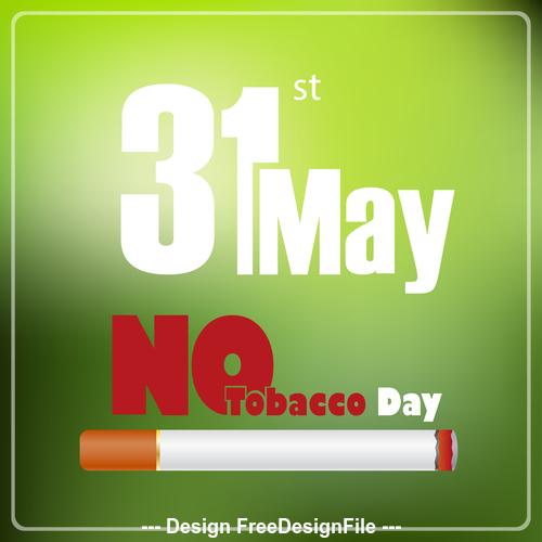 No tobacco poster vector