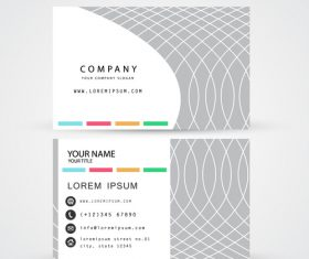 Off-white pattern business card template design vector