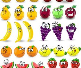 Orange etc fruit emoji cartoon icon vector