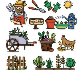 Organic farming concept illustration vector