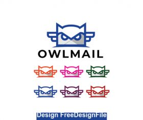 Owl mail logo vector