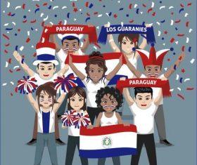 Paraguay fan club vector