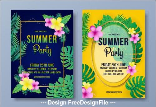 Party flyer summer vector