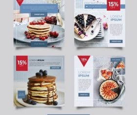 Pastry promotion templates vector