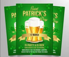 Patricks poster vector