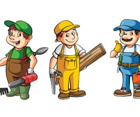 People contruction cartoon illustration vector