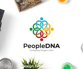 People dna logo vector
