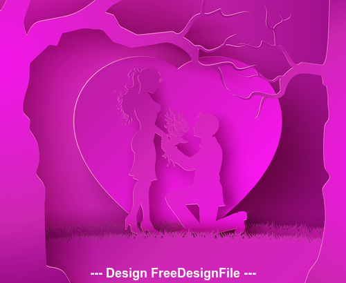 Pink valentines day vector