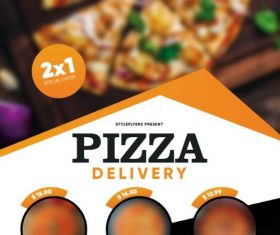 Pizza Restaurant Delivery PSD Flyer Template