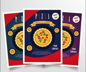 Pizza food poster vector