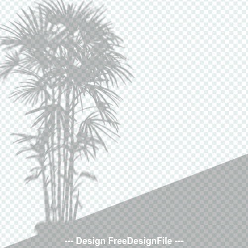 Plant transparent shadow effect vector
